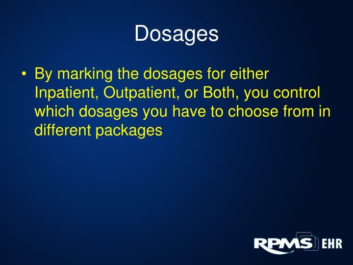 Dosages