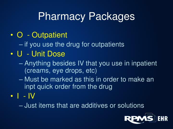 Pharmacy Packages