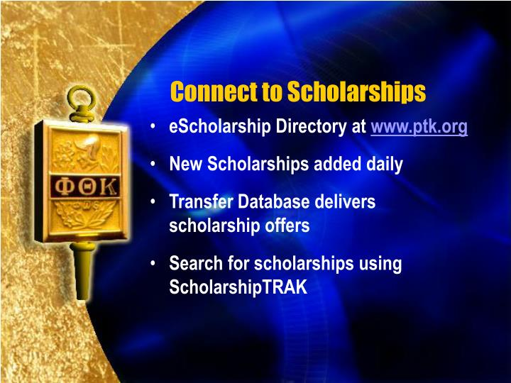 Connect to Scholarships