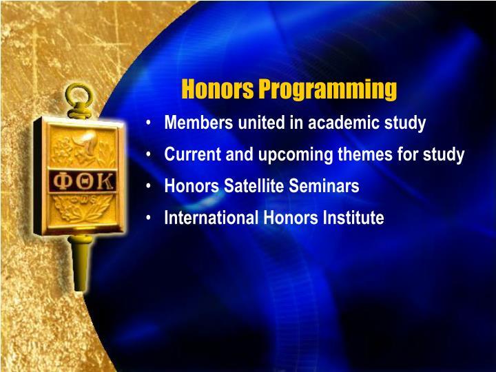 Honors Programming