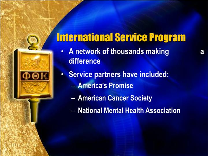 International Service Program