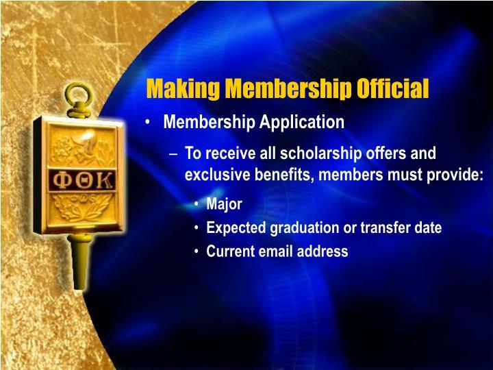 Making Membership Official