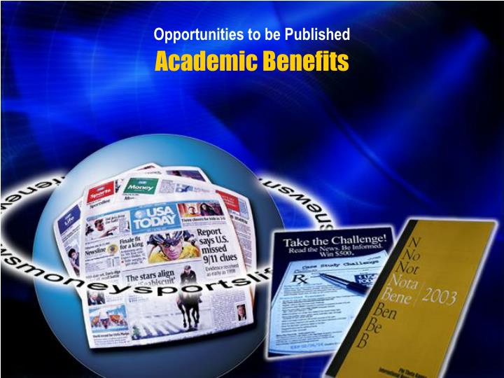 Opportunities to be Published