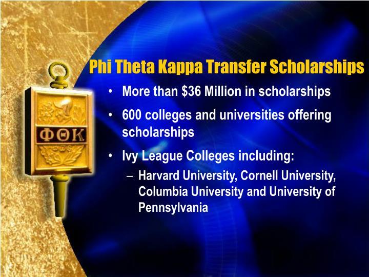 Phi Theta Kappa Transfer Scholarships