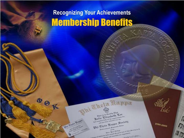 Recognizing Your Achievements