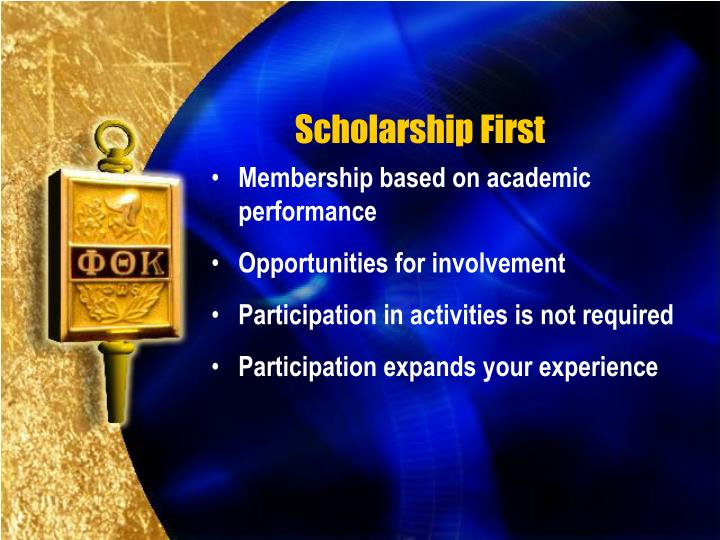 Scholarship First
