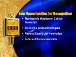 your opportunities for recognition1