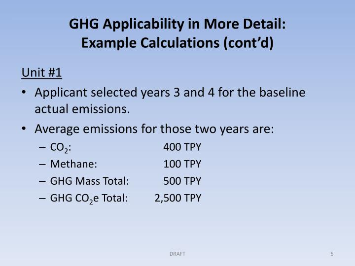 GHG Applicability in More Detail:
