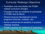 curricular redesign objectives