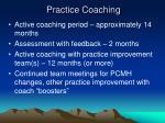 practice coaching