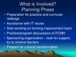 what is involved planning phase