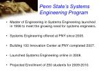 penn state s systems engineering program