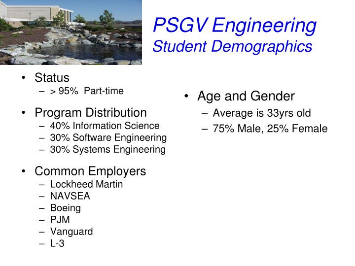 Psgv engineering student demographics