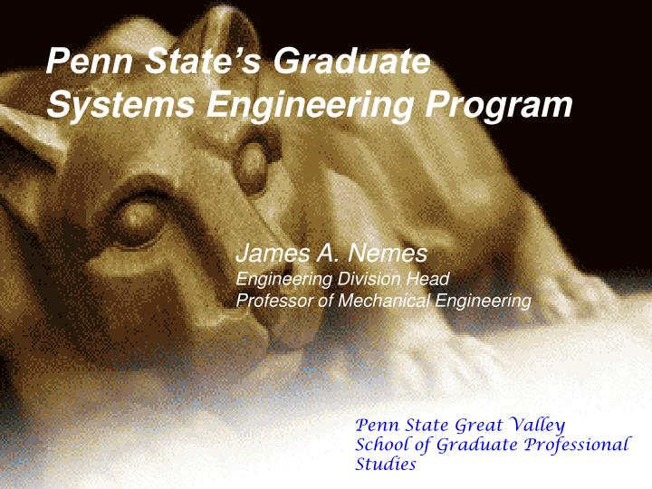 Penn State's Graduate Systems Engineering Program