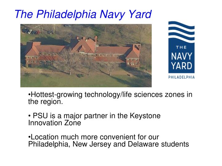 The Philadelphia Navy Yard