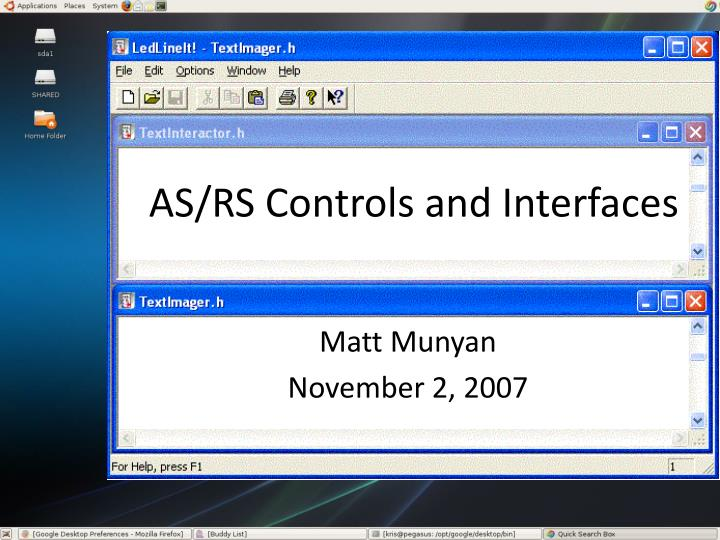 AS/RS Controls and Interfaces