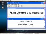 as rs controls and interfaces