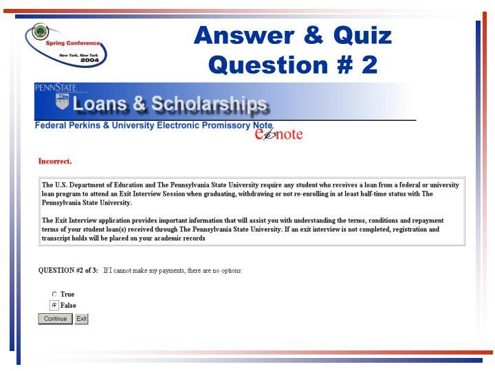 Answer & Quiz