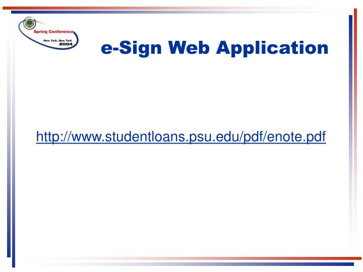 e-Sign Web Application