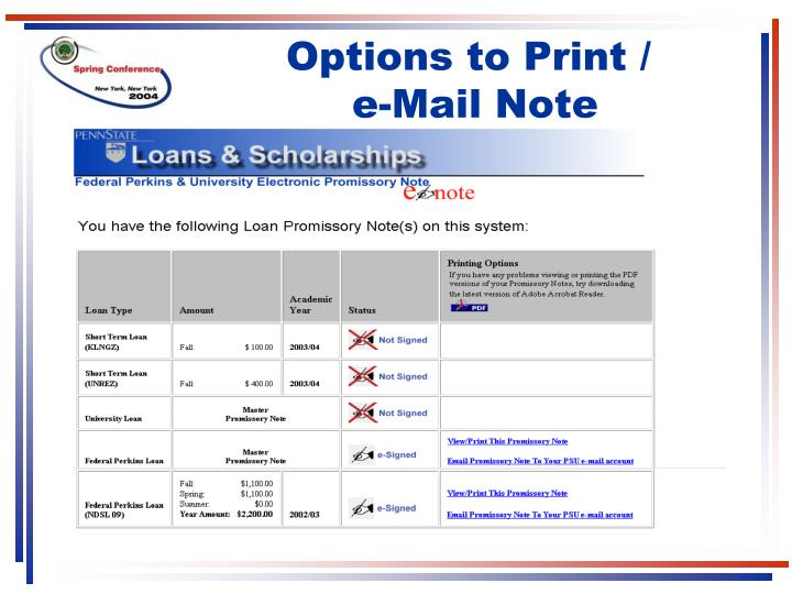 Options to Print /