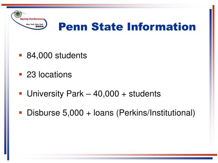 Penn State Information