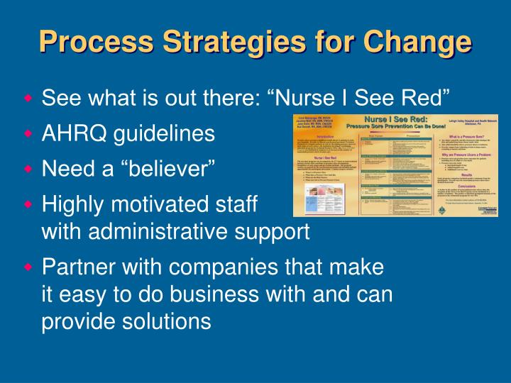 Process Strategies for Change