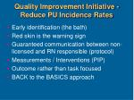 quality improvement initiative reduce pu incidence rates