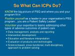 so what can icps do