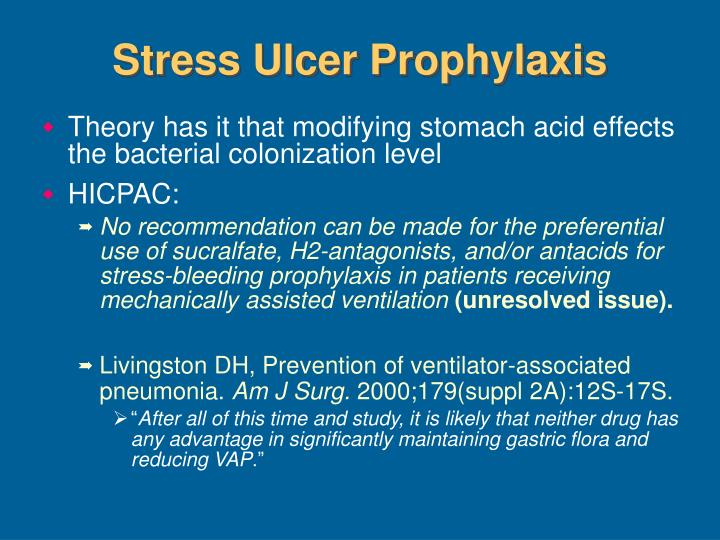 Stress Ulcer Prophylaxis