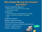 who keeps moving the cheese and why