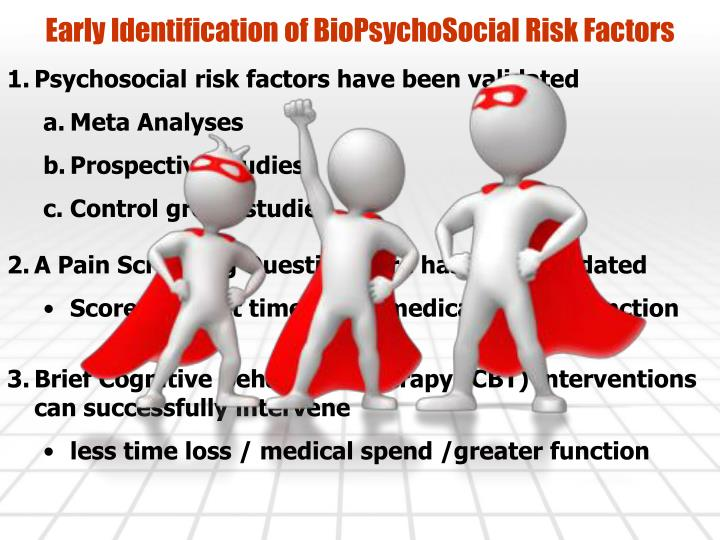 Early Identification of BioPsychoSocial Risk Factors