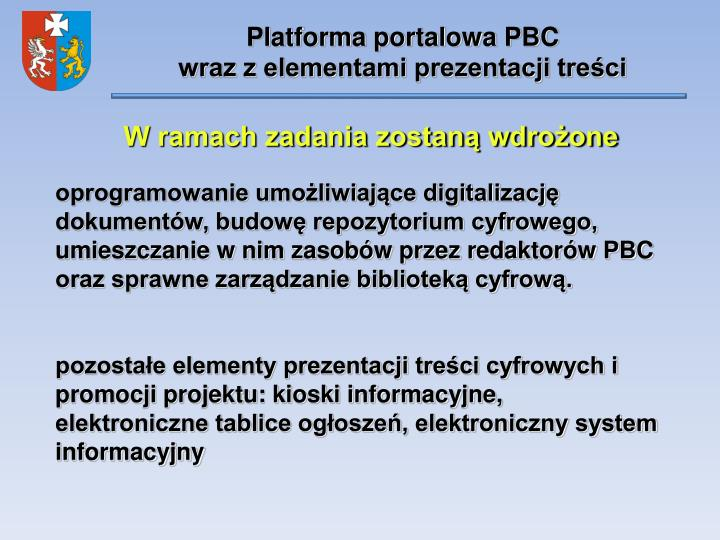 Platforma portalowa PBC