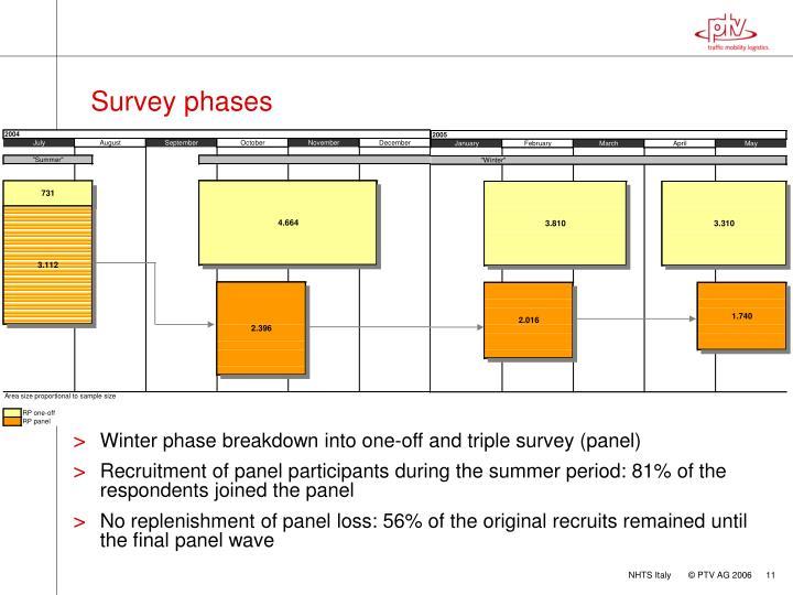 Survey phases
