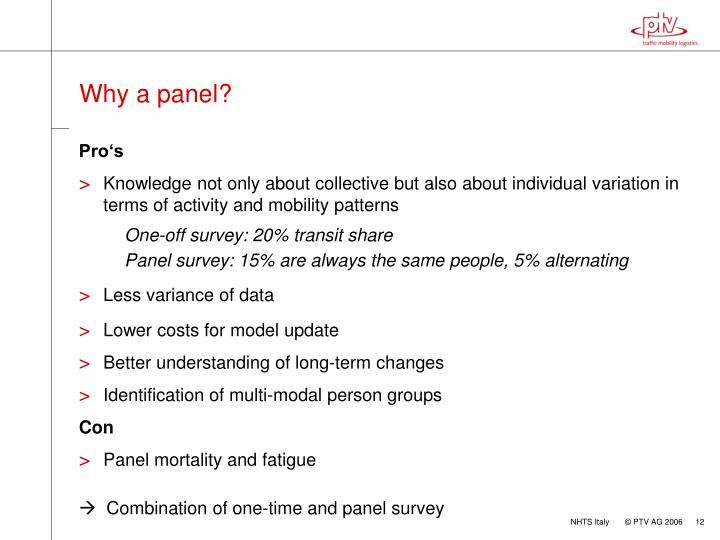 Why a panel?