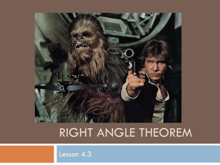 Right angle theorem
