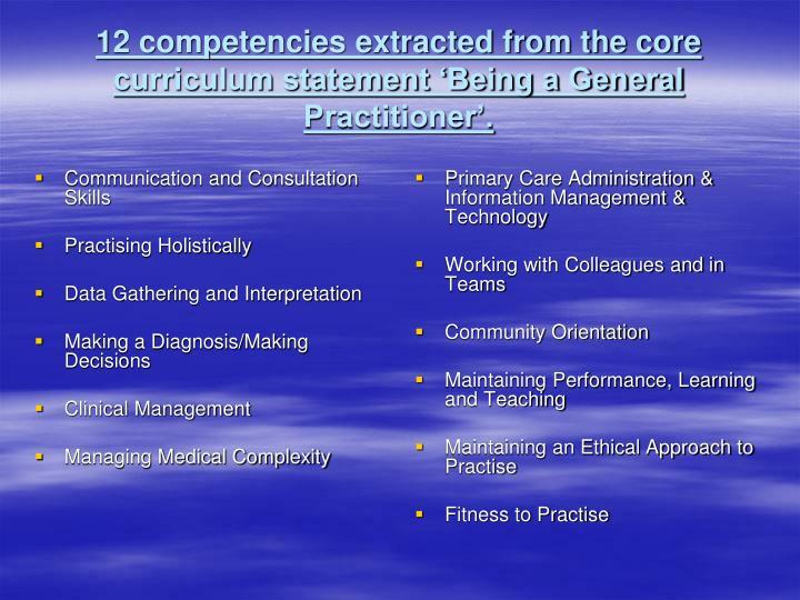 Communication and Consultation Skills