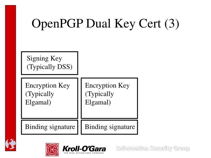 OpenPGP Dual Key Cert (3)