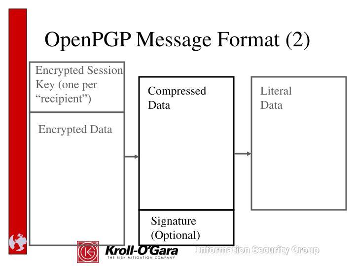 OpenPGP Message Format (2)