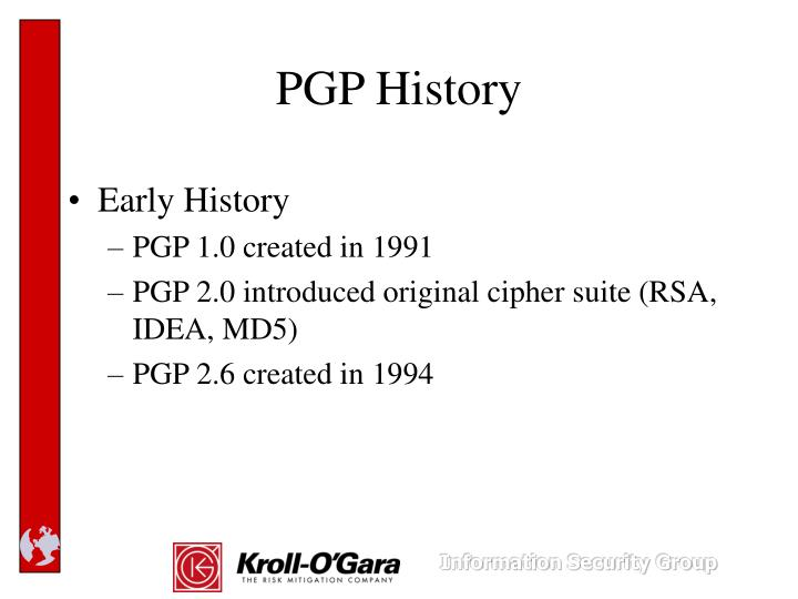 PGP History
