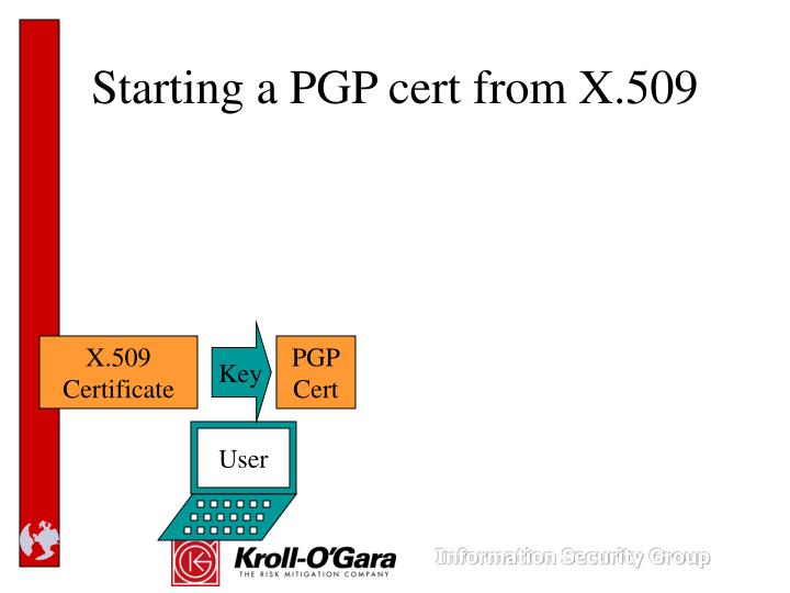 Starting a PGP cert from X.509