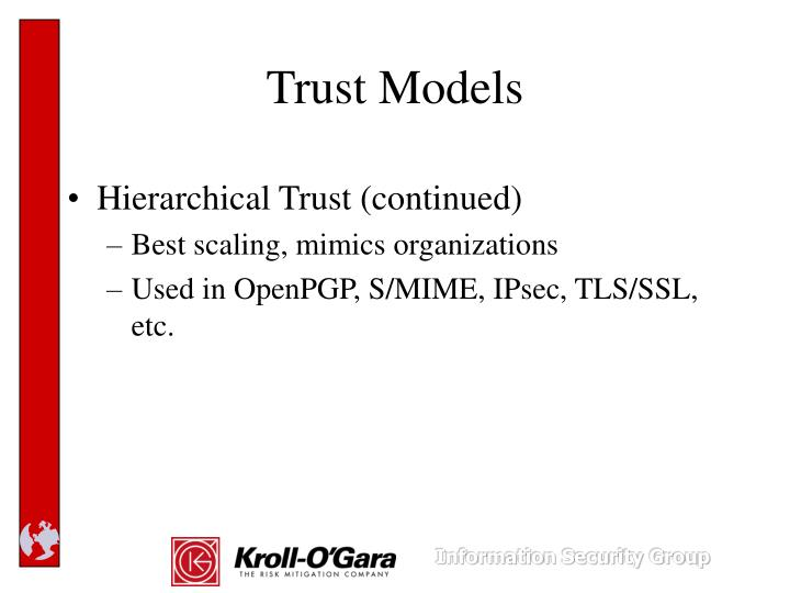 Hierarchical Trust (continued)