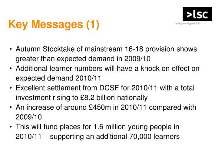 Key Messages (1)