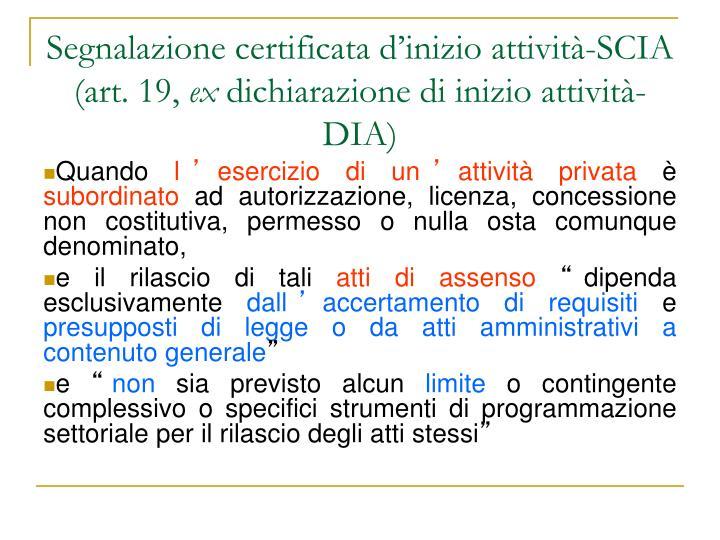 Segnalazione certificata d