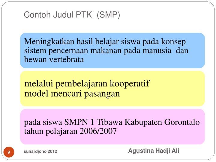 Contoh Judul PTK  (SMP)