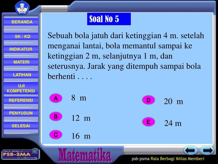 Soal No 5