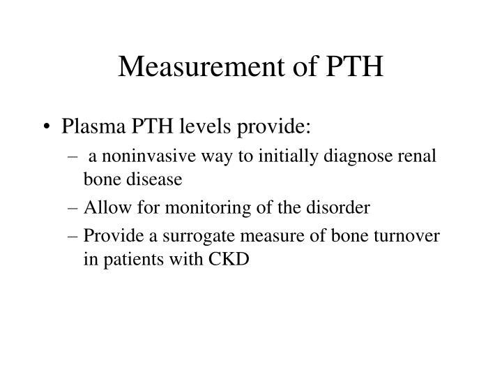 Measurement of PTH