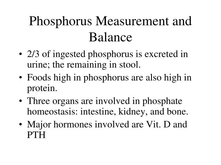 Phosphorus Measurement and Balance