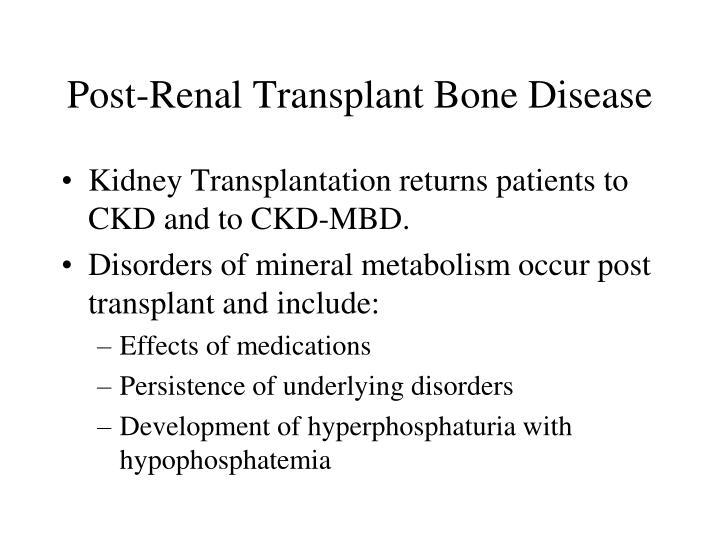 Post-Renal Transplant Bone Disease