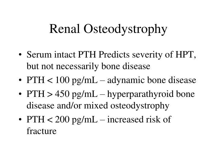 Renal Osteodystrophy