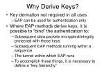 why derive keys